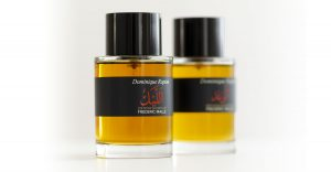 Flacons of Night and Promise perfumes